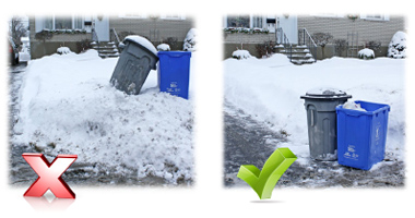 Winter garbage collection