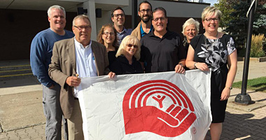 United Way flag raising