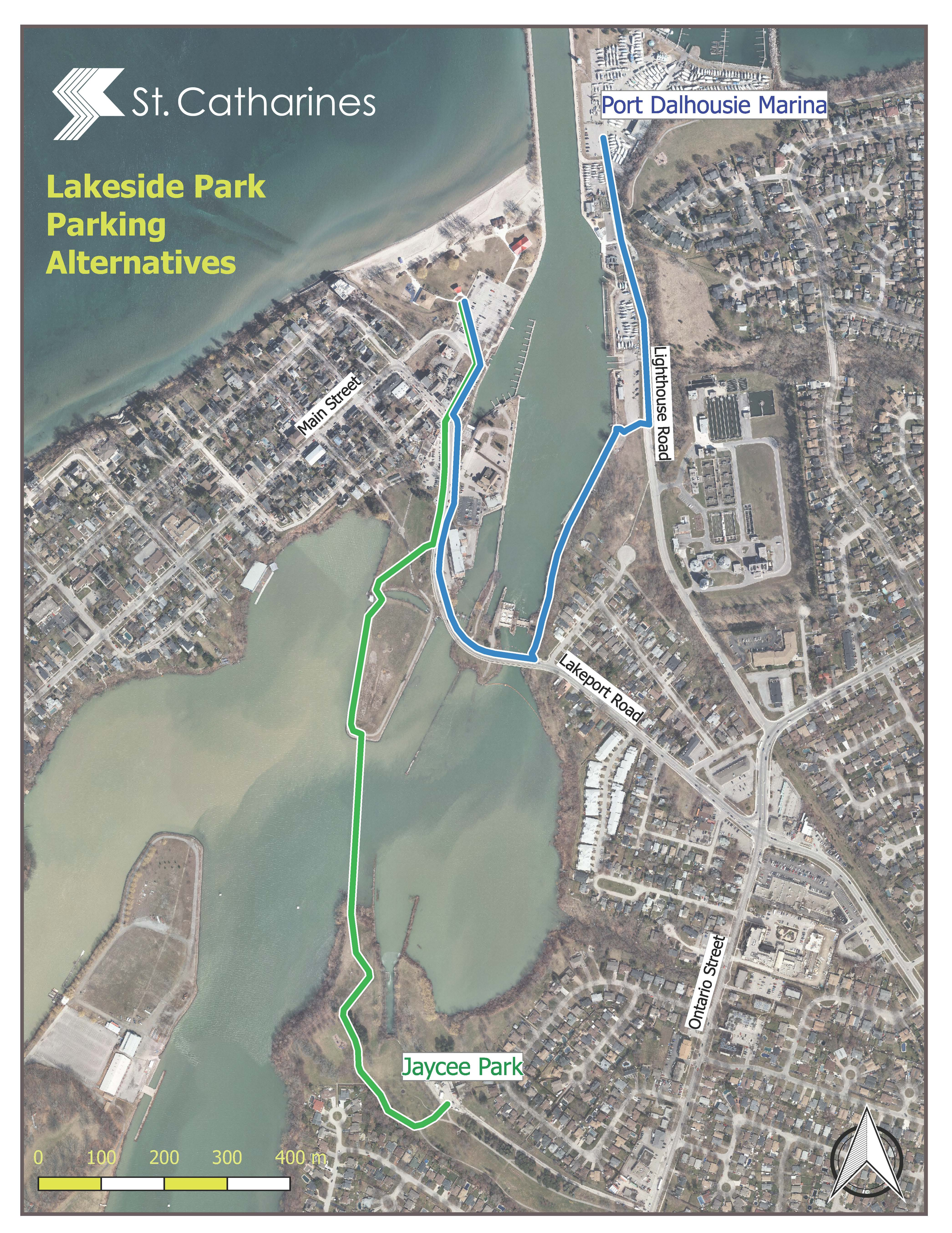 Free Parking Available in Port Dalhousie-Map