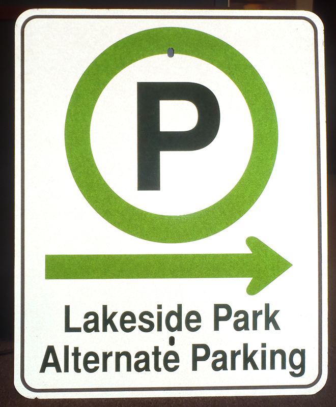 Free Parking Available in Port Dalhousie-Wayfinding-Sign