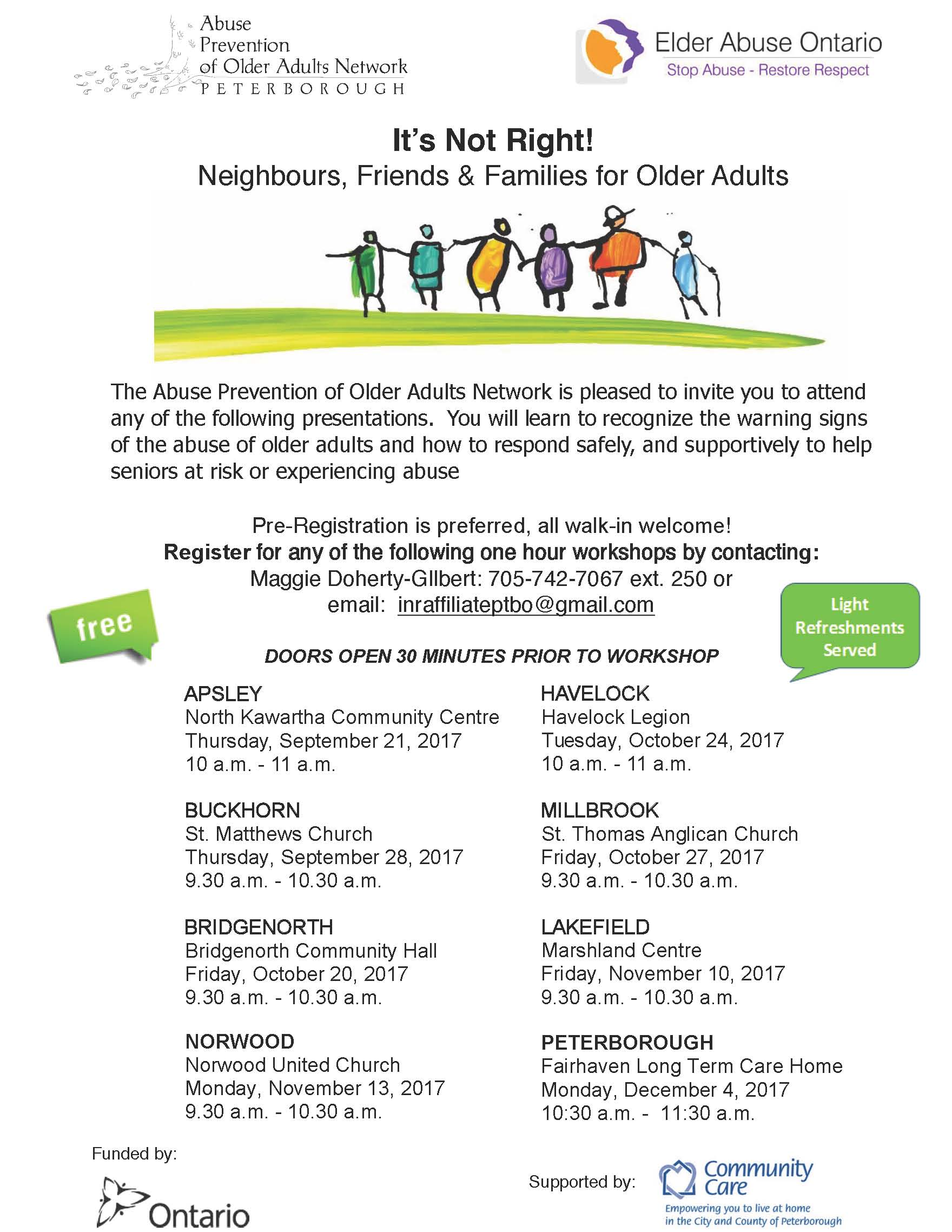 Elder Abuse Community Sessions