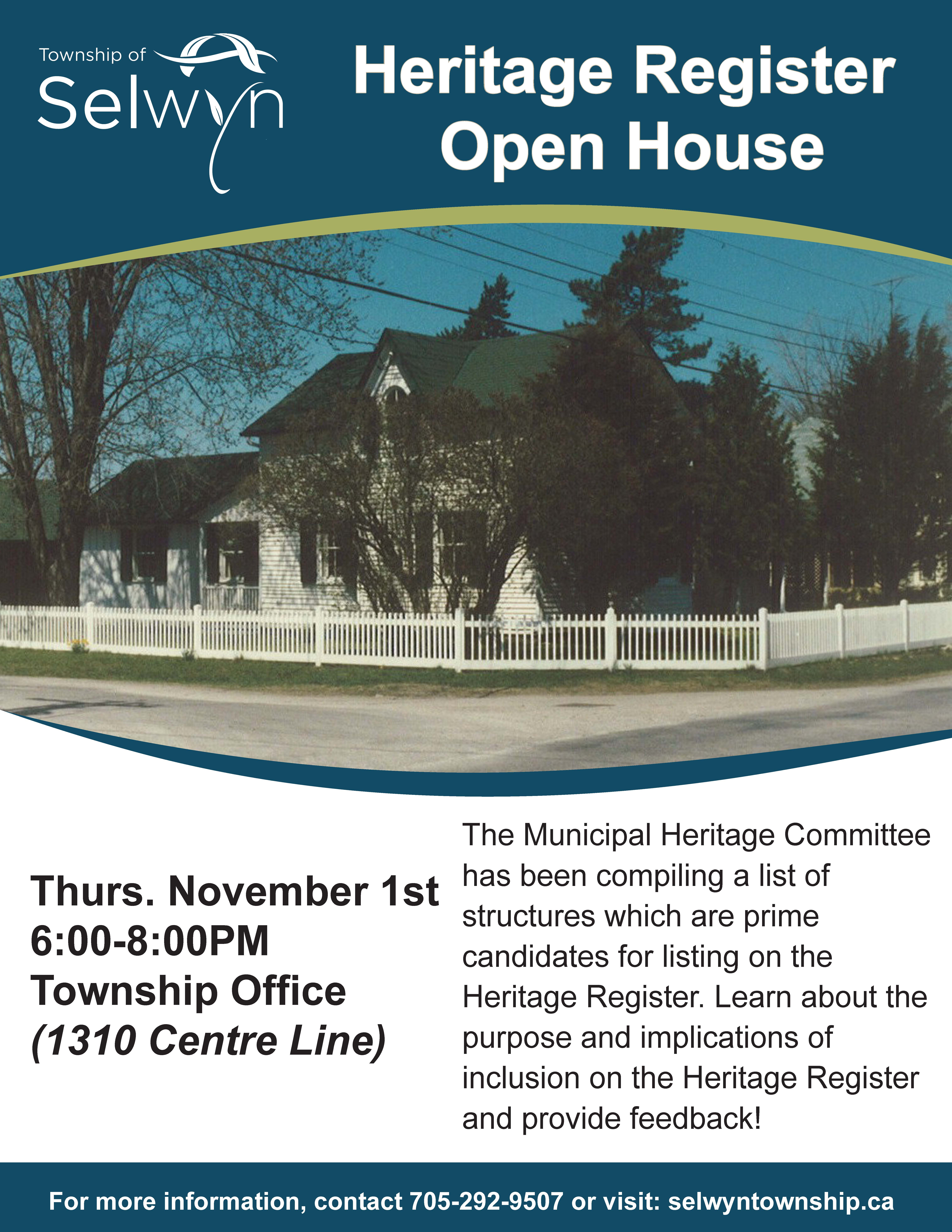 Open House - Heritage Registry Poster
